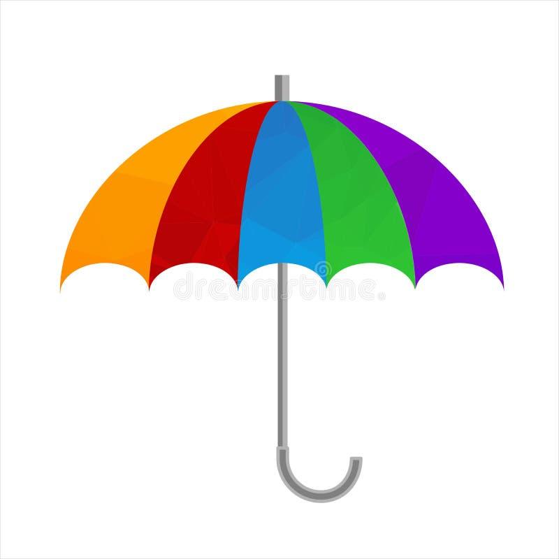 Полигональный значок зонтика Символ предохранения от дождя иллюстрация вектора