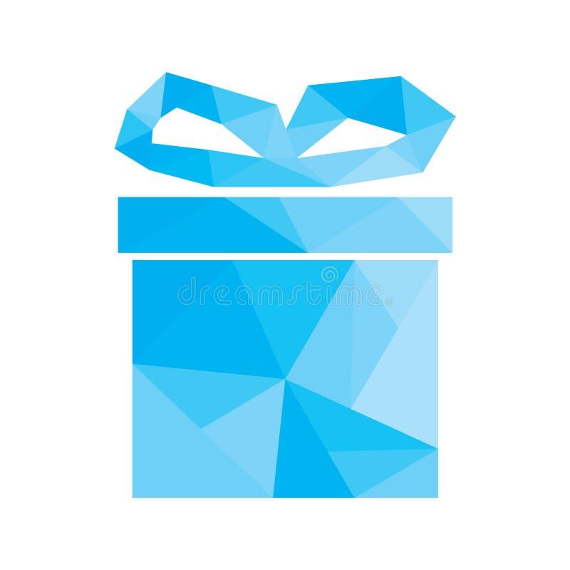 Полигональный значок подарка бесплатная иллюстрация
