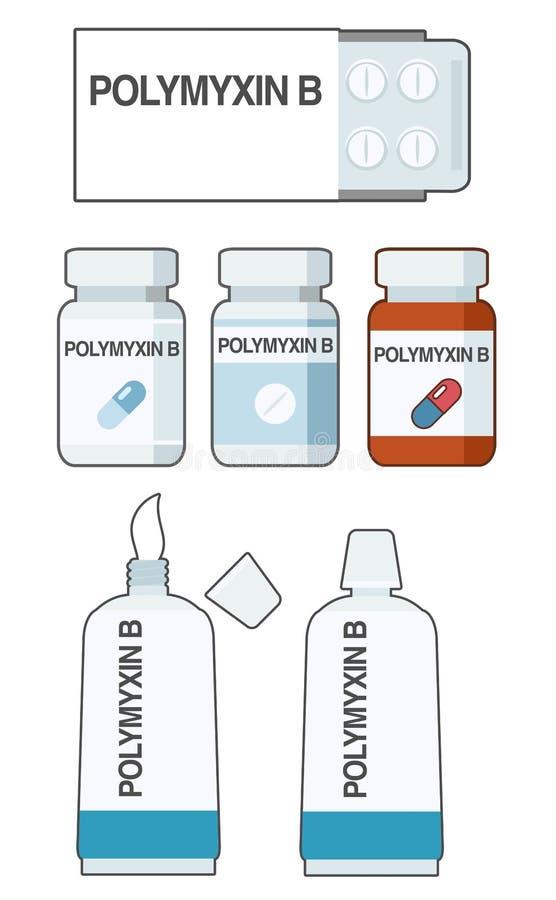 Полимиксин В - антибиотик, используемый для профилактики и лечения ряда бактериальных инфекций стоковые изображения rf