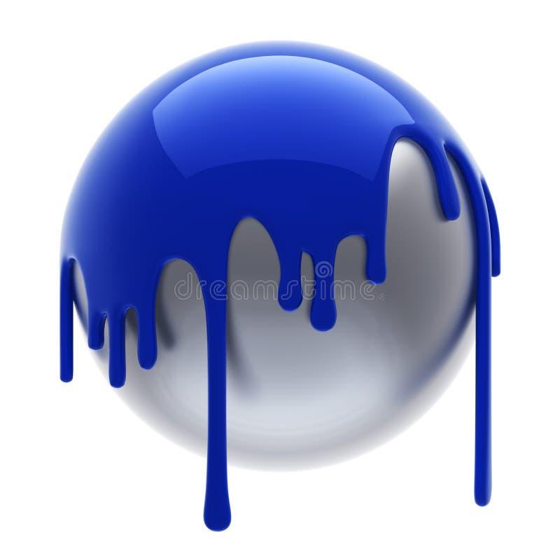 политая синь шарика бесплатная иллюстрация