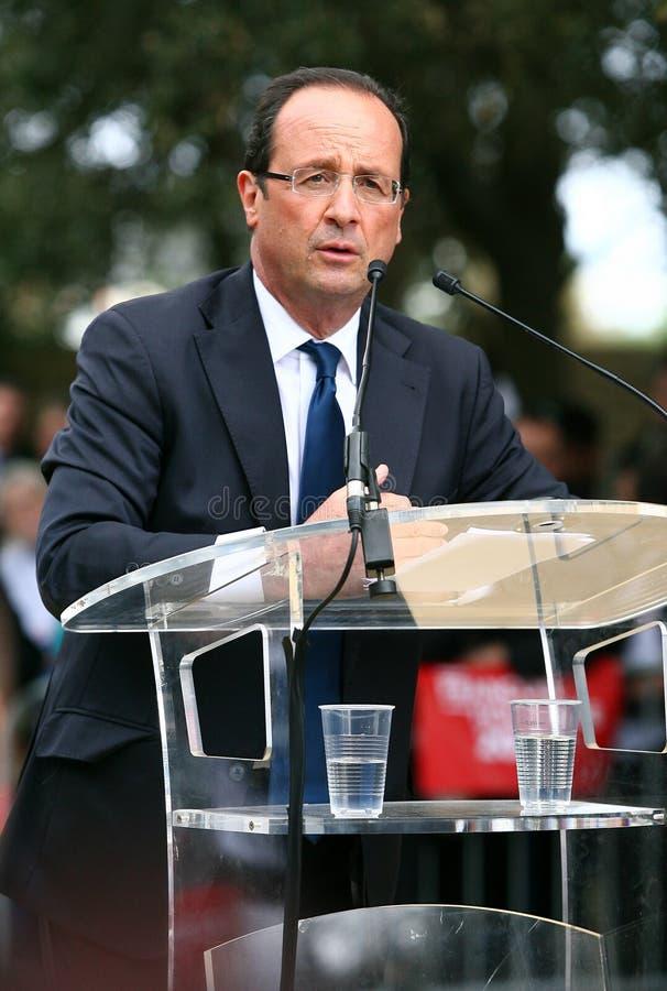 политикан hollande francois французский стоковые фото