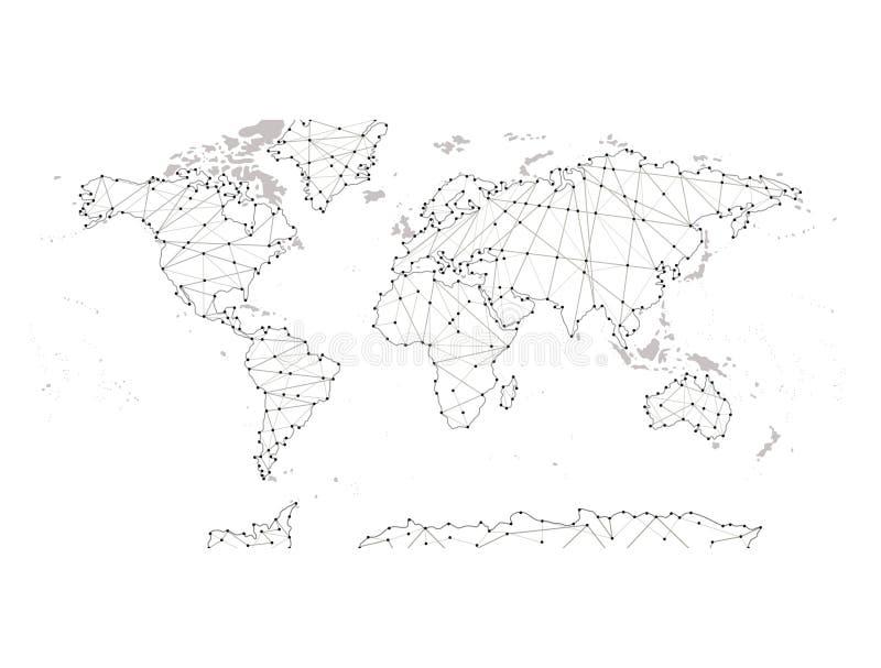 Политическая карта мира Высокая карта мира детали Все ясно обозначенные элементы отделены в слоях 3 абстрактный вектор текстуры b бесплатная иллюстрация
