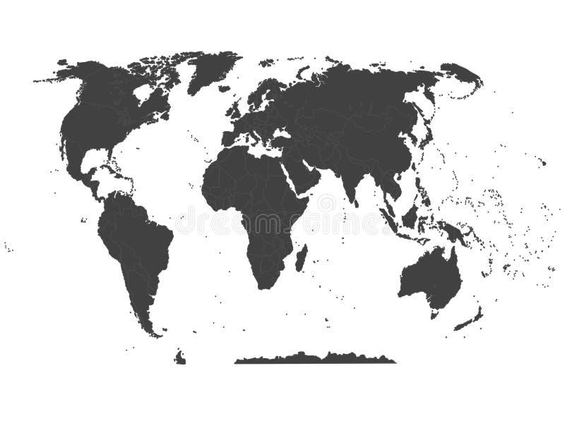 Политическая карта мира Высокая карта мира детали Все ясно обозначенные элементы отделены в слоях 3 абстрактный вектор текстуры b иллюстрация штока