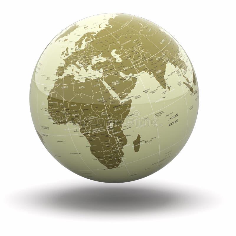 Политический глобус мира. 3d иллюстрация вектора