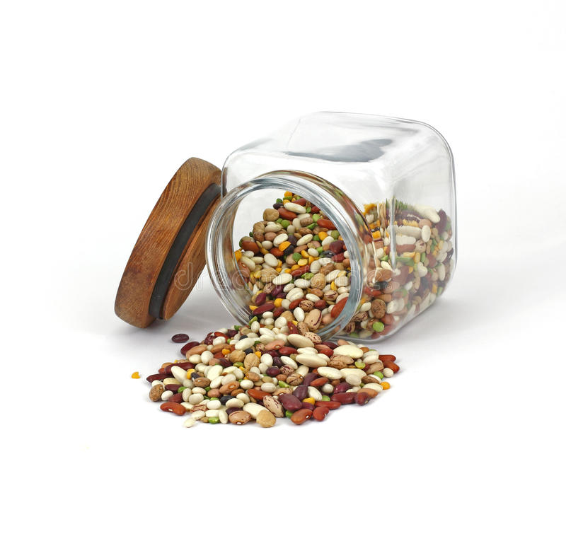 политые фасоли Jar смешанное Стоковая Фотография RF