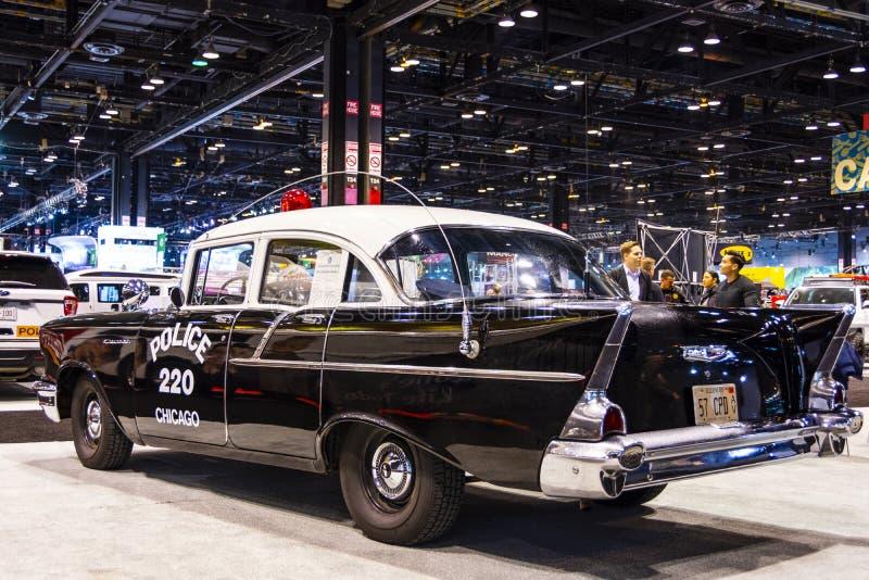 Полицейский автомобиль 1957 Чикаго стоковое фото rf