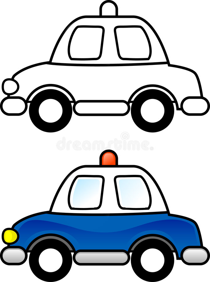 полиции автомобиля иллюстрация штока