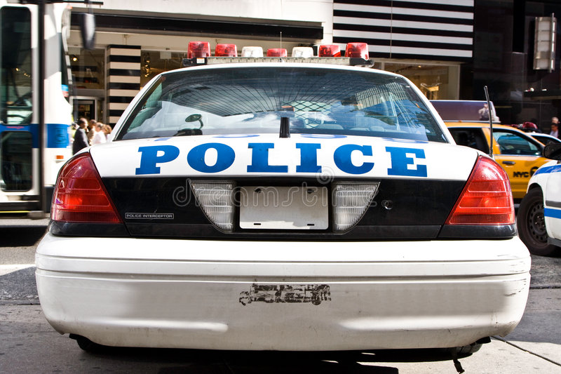 полиции автомобиля стоковые фотографии rf