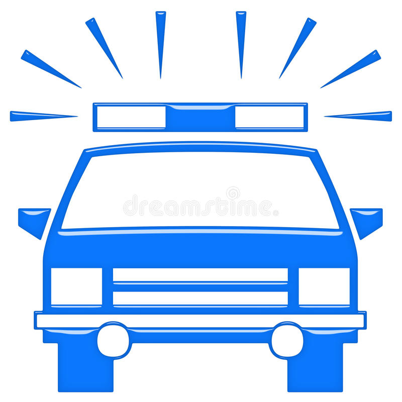 полиции автомобиля 3d иллюстрация вектора