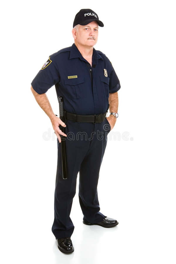 полиции офицера тела полные стоковое изображение rf