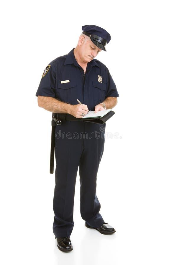 полиции офицера цитации тела полные стоковая фотография
