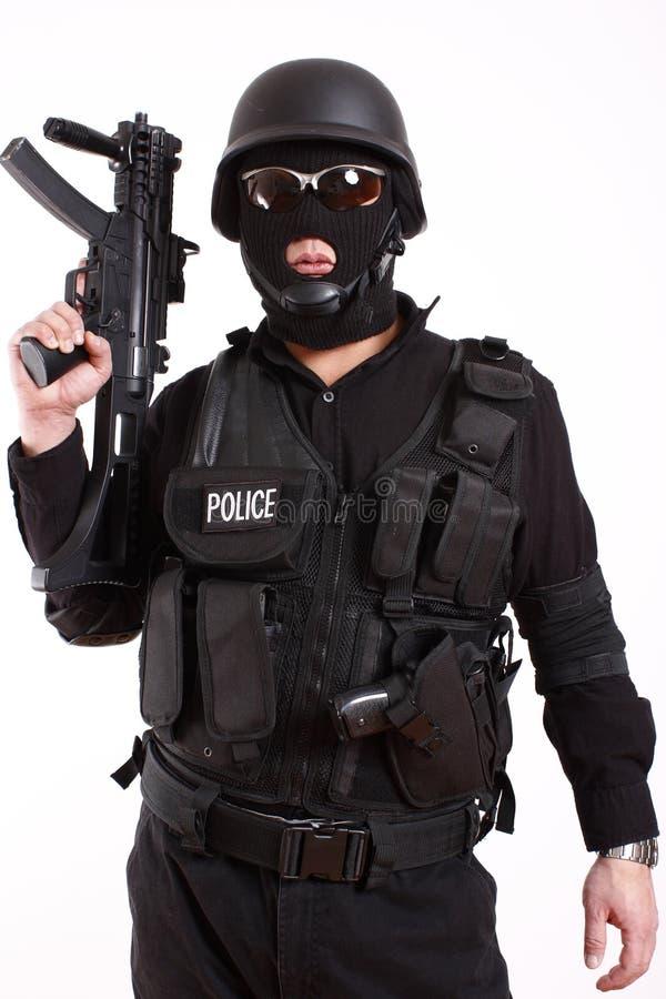 полиции офицера swat стоковые фото