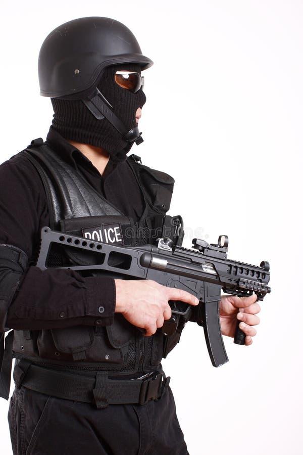 полиции офицера swat стоковое изображение rf