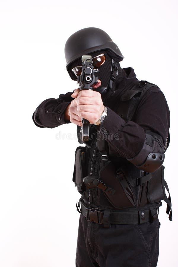 полиции офицера swat стоковые изображения rf