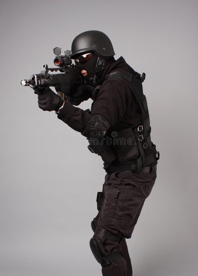полиции офицера swat стоковое изображение