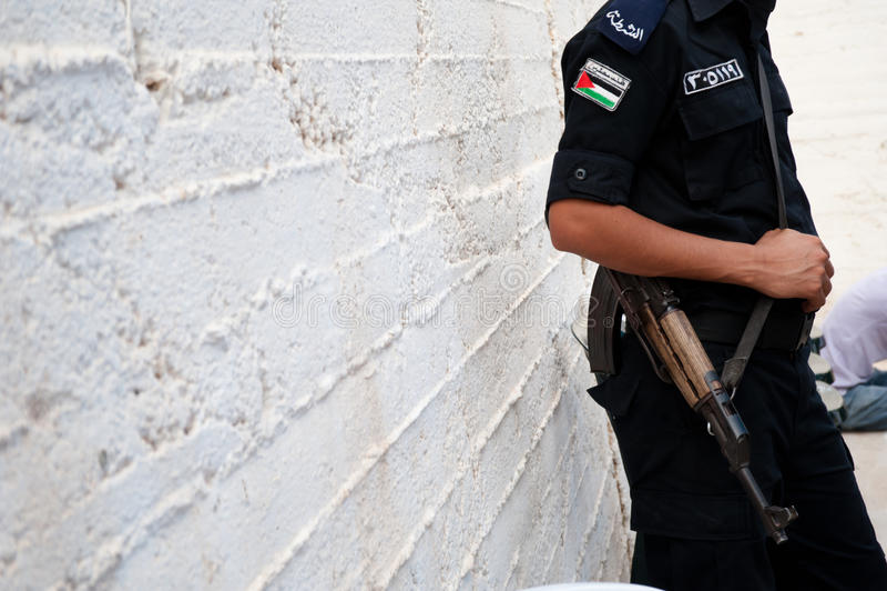 полиции палестинца авторитета стоковая фотография