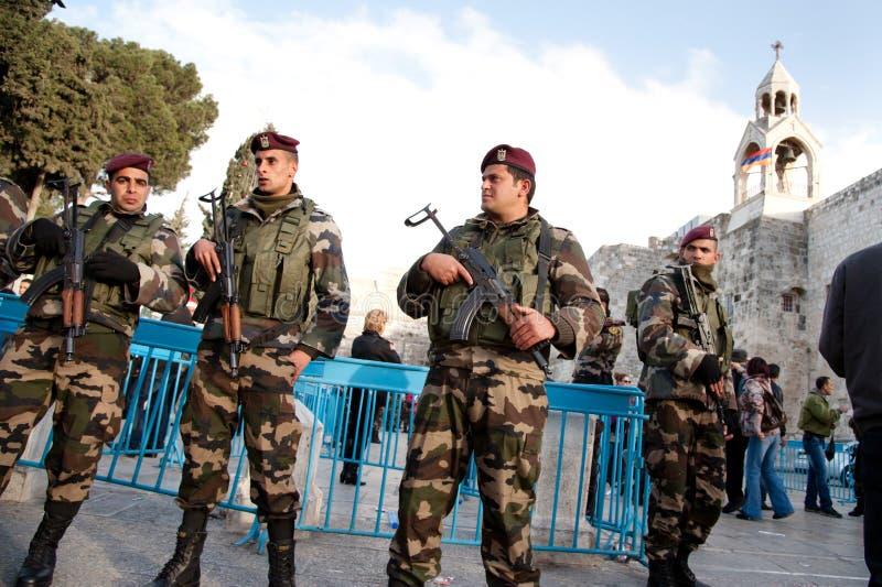 полиции палестинца авторитета стоковое фото