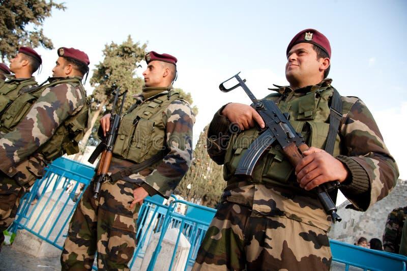полиции палестинца авторитета стоковое изображение rf
