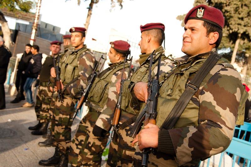 полиции палестинца авторитета стоковое фото rf