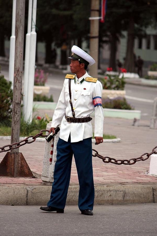 полиции dprk Кореи мыжские северные торгуют стоковая фотография