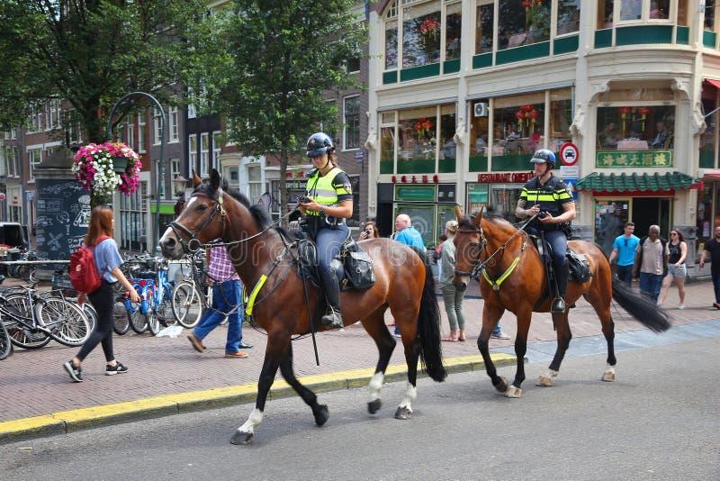 Полиция Амстердама стоковое изображение rf