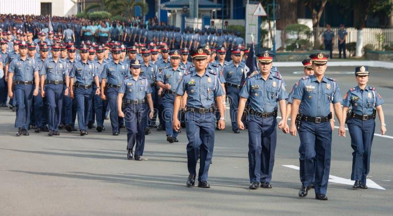 Полиция в Манила, Филиппиныы стоковая фотография