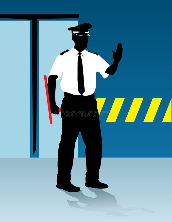 полиция говорит стоп бесплатная иллюстрация