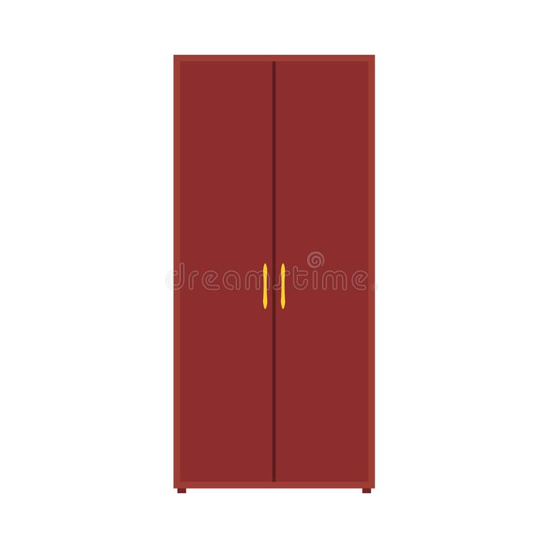 Полка мебели значка вектора шкафа шкафа Оденьте хранение мультфильма шкафа внутреннее Ящик моды кухонного шкафа деревянный бесплатная иллюстрация
