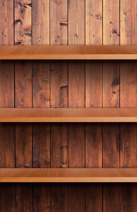 Полка тома деревянная стоковое фото rf
