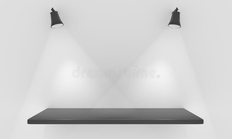 полка экспоната иллюстрация вектора