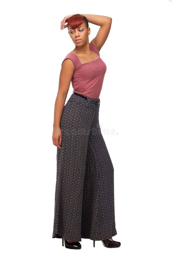 Полная женщина афроамериканца тела стоковое изображение