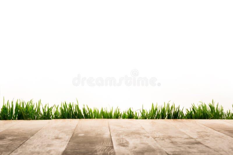 полная рамка деревянных планок и предпосылки sward, стоковое изображение