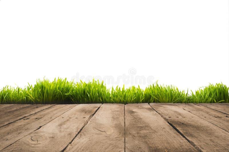 полная рамка деревянных планок и предпосылки sward, стоковая фотография
