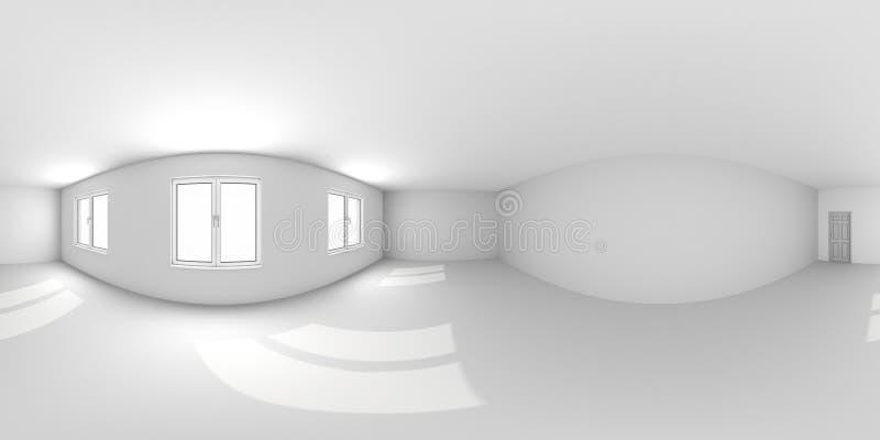 Полная сферическая панорама 360-180-градусная на 180-градусном градусе в эквивалентно-прямоугольной экзотической проекции, панора бесплатная иллюстрация