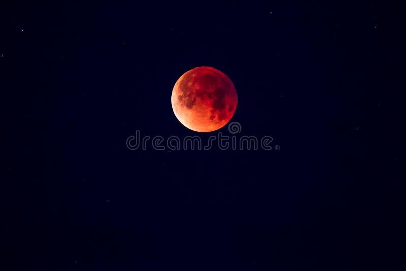 Полное лунное затмение стоковая фотография