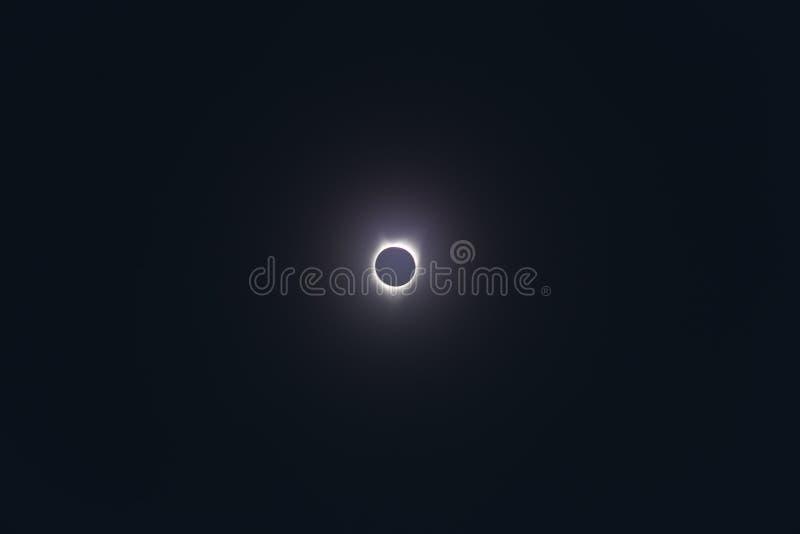 Полное солнечное затмение 2017 стоковые фото