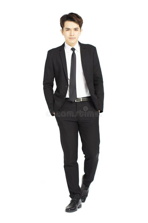 Полное тело молодого красивого бизнесмена стоковые фотографии rf