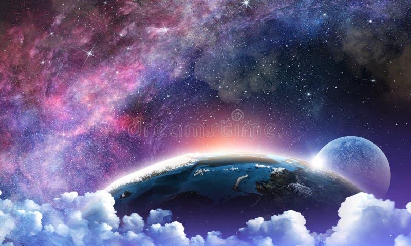 Полнолуние в небе ночи звёздном стоковая фотография rf