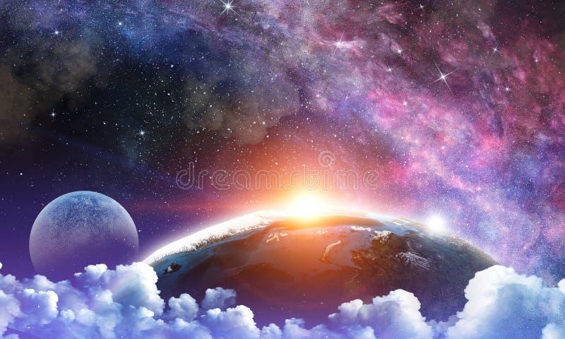 Полнолуние в небе ночи звёздном стоковые изображения rf