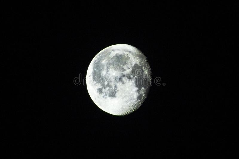Полнолуние на крупном плане ночи стоковое фото rf