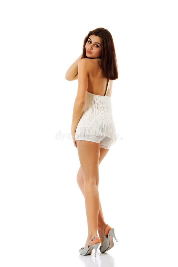 Полнометражное привлекательной девушки подростка содружественное стоковые фотографии rf