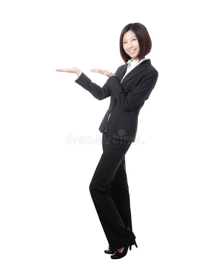 Полнометражный вводить женщины дела стоковое изображение rf