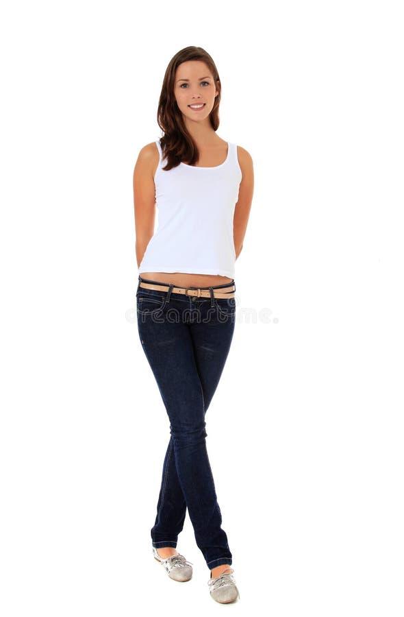 Полнометражный девочка-подросток стоковые фотографии rf