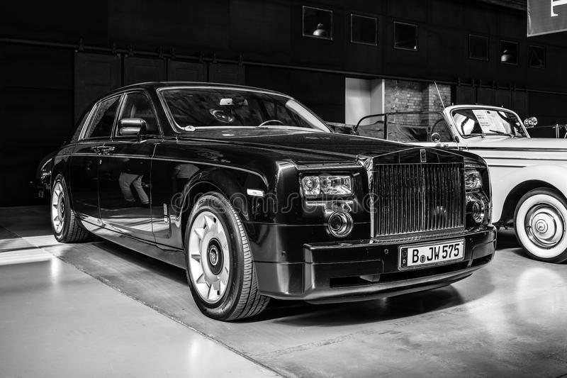 Полноразмерный роскошный фантом VII Rolls Royce автомобиля стоковое изображение rf