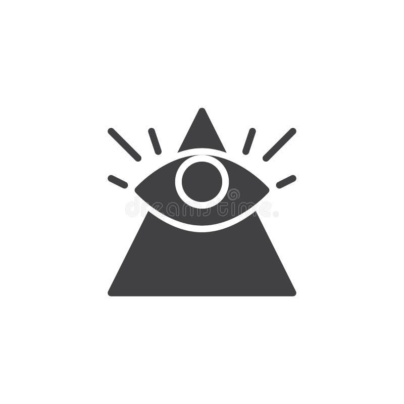 Полностью видя значок вектора глаза иллюстрация вектора