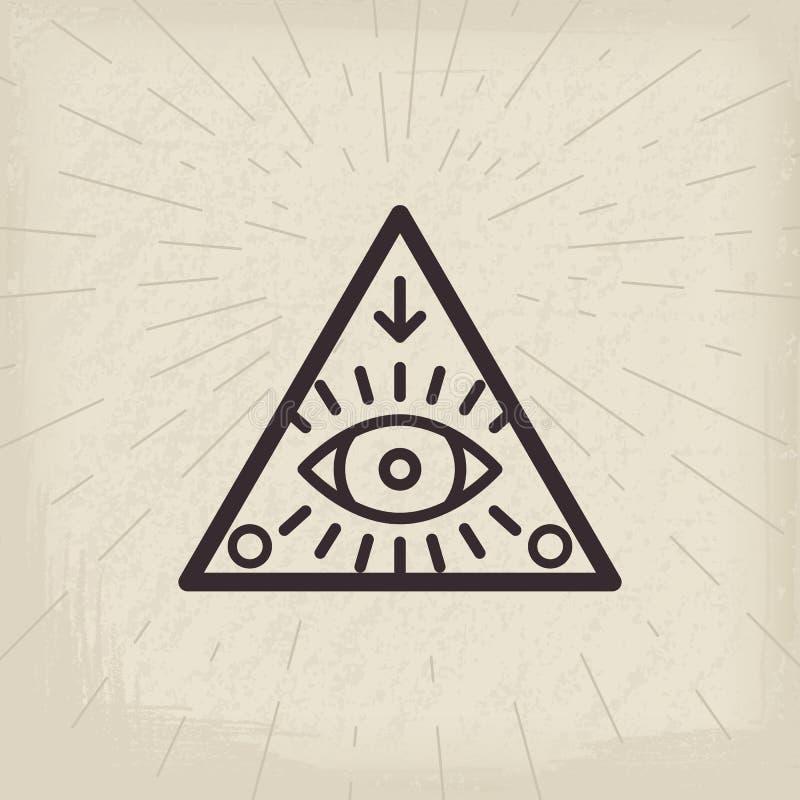 Полностью видя предпосылка года сбора винограда глаза иллюстрация вектора