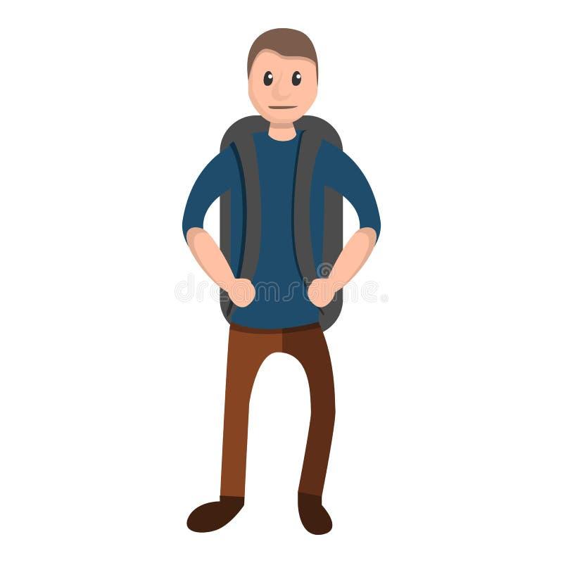 Полностью задний значок bakcpack, стиль мультфильма иллюстрация штока
