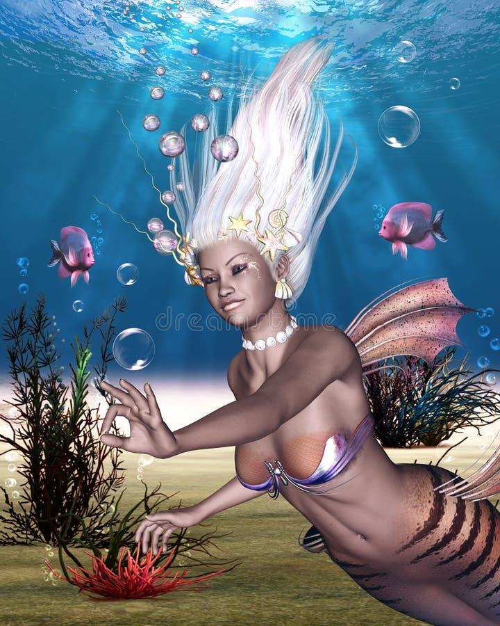 полностью красивейший mermaid большинств море бесплатная иллюстрация