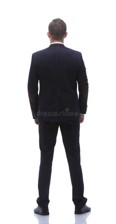 Полностью рост вид сзади успешного бизнесмена стоковая фотография rf