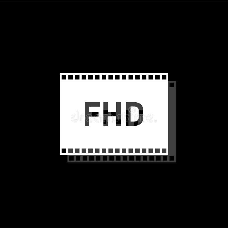 Полный значок hd плоско бесплатная иллюстрация
